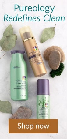 Pureology products in a nature setting. Shop Pureology hair care products at LovelySkin.