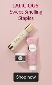 LALICIOUS: sweet-smelling staples. Click here to shop LALICIOUS body care products.