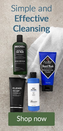 Simple and effective cleansing. Click here to shop men's cleansers and skin care.