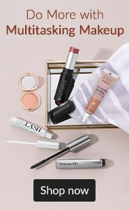 Do More with Multitasking Makeup. Click here to shop multitasking makeup.