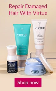 Repair damaged hair with VIRTUE. Click here to watch a video introduction of VIRTUE hair care products.
