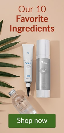 Skin care products from SkinMedica, SkinCeuticals and ClarityRx and more. Click here to learn more about top 10 skin care ingredients.