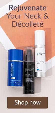 Rejuvenate your neck and décolleté. Click here to shop products for aging neck and décolletage.