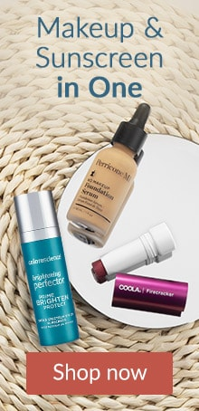 Makeup and sunscreen in one. Click here to shop two-in-one sunscreen and makeup products.