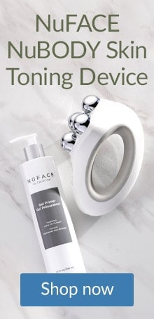 Firm and tighten skin on legs and around the body with the NuFace NuBody Skin Toning Device.