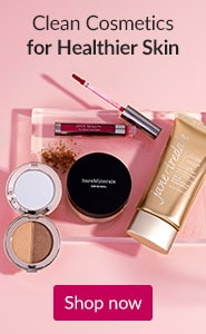 Clean cosmetics for healthier skin. Click here to shop clean makeup.