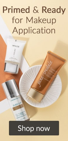 Primed and ready for makeup application. Click here to shop makeup from jane iredale, image skincare and more.