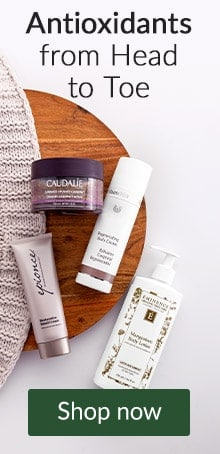 Antioxidants from head to toe with Caudalie, Epionce and more. Click here to shop bath and body.