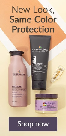 New look, same color protection. Click here to shop Pureology hair care.