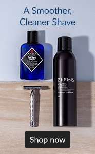 For a smoother, cleaner shave. Click here to shop men's shaving.